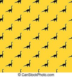 Brachiosaurus dinosaur pattern vector