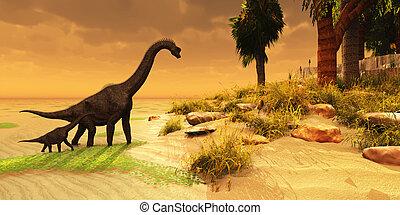 brachiosaurus, isla