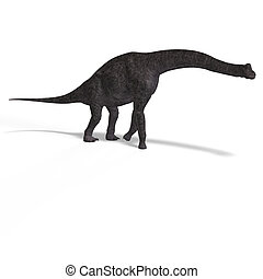 brachiosaurus - giant dinosaur brachiosaurus With Clipping...