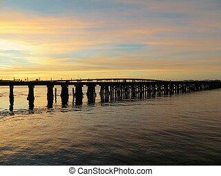Bradenton Bridge over the Manatee River in Tampa Florida