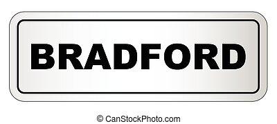 Bradford City Nameplate - The city of Bradford nameplate on...