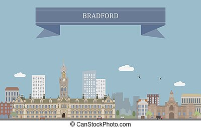 Bradford, England - City of Bradford in West Yorkshire,...