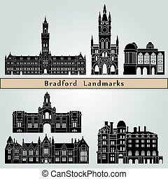 bradford, wahrzeichen, denkmäler