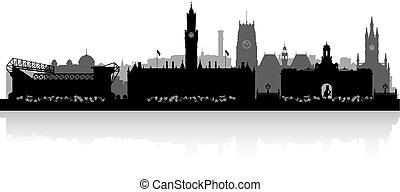 Bradfort city skyline silhouette