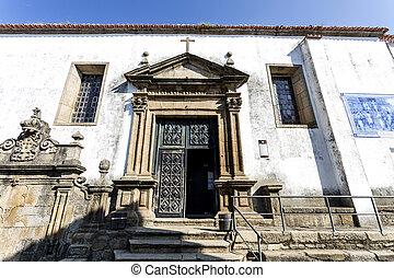 Braganca Sao Vicente Church - Main entrance of the Sao...