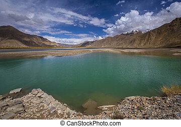 Brahmaputra River - Tibet - China - The Brahmaputra River in...