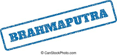 Brahmaputra Rubber Stamp - Blue rubber seal stamp with...
