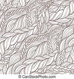 braid hair pattern - braid hair seamless pattern on white...