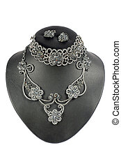 braided embellishment from beads with russian pattern.