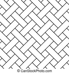 Braided grid texture. Stripped geometric seamless pattern. Modern repeating stylish texture. Flat texture on white background. Vector