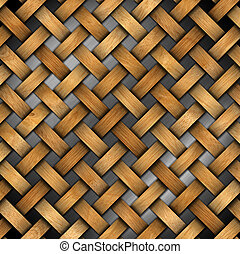 Braided Wooden Background