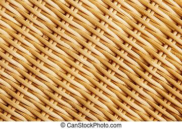 Closeup of a braiding of rattan