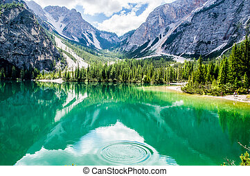 Braies lake, the most beautiful lake in Italy