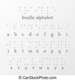 braille, alfabet, getallen