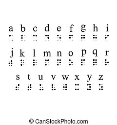 Braille Alphabet - Braille alphabet vector