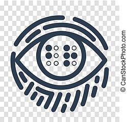 braille, educação, silueta