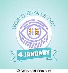braille, janeiro, 4, mundo, dia
