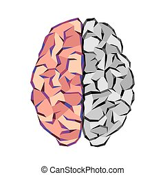 Brain abstract tringles