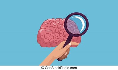 Brain and intelligence HD animation