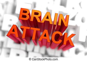 Brain Attack - Medicine Concept. 3D rendering