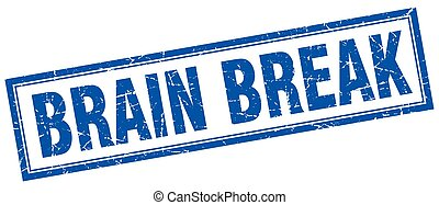 brain break square stamp