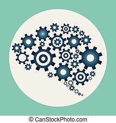 Brain build out of cogs and gears