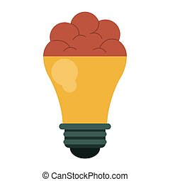 brain bulb idea innovation creative design