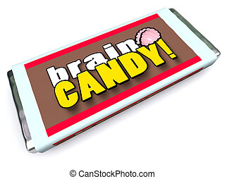 Brain Candy Chocolate Bar Wrapper Stimulate Ideas - A candy...