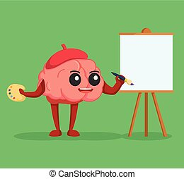 brain character painting color