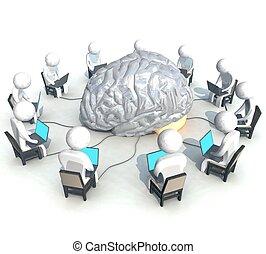 BRAIN Computer - three-dimensional, programmer, brain,
