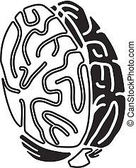 Brain concept icon, simple style