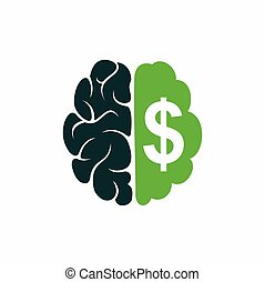 Brain dollar logo