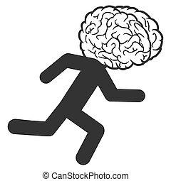Brain Drain Raster Icon