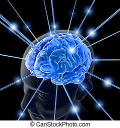 Brain Energized - Concept of power and intelligence.