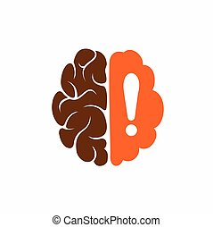Brain exclamation logo