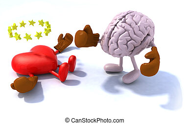 Brain fighting heart
