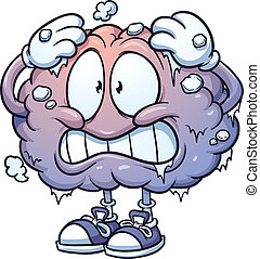 Brain Freeze - Brain freeze clip art. Vector cartoon...
