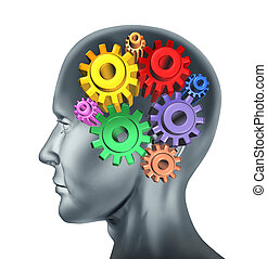 Brain function and intelligence symbol represented by ...