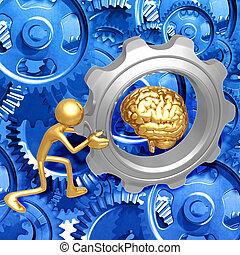 Brain Gear Push - 3D Concept And Presentation Figure