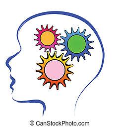 brain gear  - human brain with gears