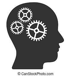 Brain Gears Raster Icon