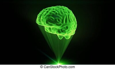 Brain hologram holographic projection projector sci-fi doctor technology loop