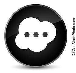 Brain icon elegant black round button