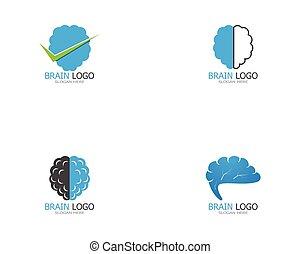 Brain icon logo design vector illustration