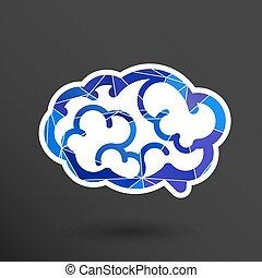 Brain icon mind vector medical symbol illustration