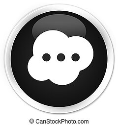 Brain icon premium black round button