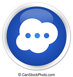 Brain icon premium blue round button