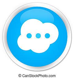 Brain icon premium cyan blue round button