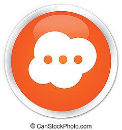 Brain icon premium orange round button