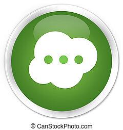 Brain icon premium soft green round button